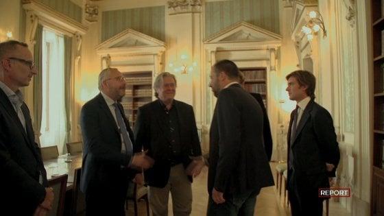 I rapporti tra la Lega e Arata: così il figlio dell'imprenditore indagato portò Steve Bannon al Viminale da Salvini