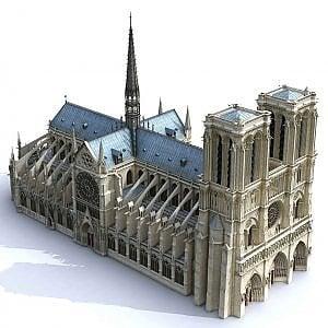 La copia 3-d di Notre-Dame ricostruita con i dati Agp