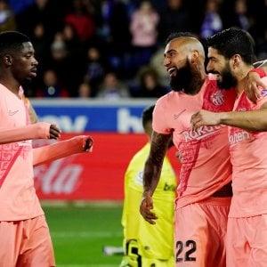 Liga: Il Barcellona non sbaglia con l'Alaves, titolo a un passo