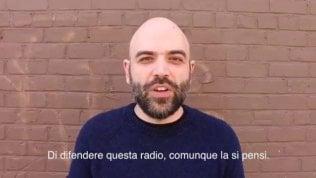 """Video Saviano per Radio Radicale: """"Chiuderla è un crimine, ci dà molto più di quel che costa""""Rep Tv Salvini d'accordo con Saviano: 'Sono contro la chiusura delle voci'"""