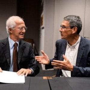 Leonardo Del Vecchio e Hubert Sagnieres