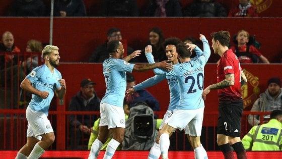 Inghilterra, il Manchester City vince il derby con lo United: titolo più vicino