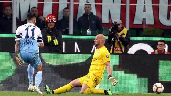 Coppa Italia, Milan-Lazio 0-1: Correa manda i biancocelesti in finale
