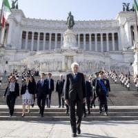 """25 Aprile: Mattarella: """"Ritorno a libertà dopo dittatura"""". Polemica Lega-M5s, Di Maio:..."""