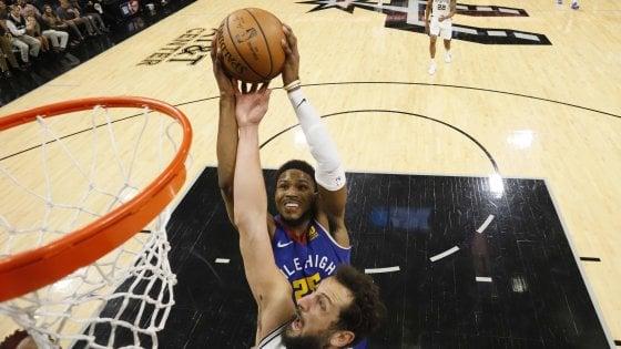 Basket, playoff Nba: San Antonio trascina Denver a gara 7