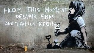 Banksy colpisce ancora: murale per il movimento ambientalista
