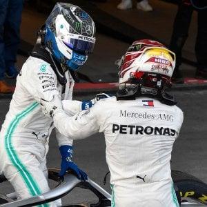 Formula 1, Gp Azerbaigian: vince Bottas davanti a Hamilton. Quarta doppietta in fila della Mercedes