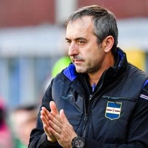 """Sampdoria, Giampaolo: """"Non eravamo costruiti per l'Europa League"""""""