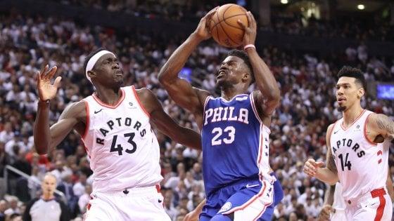 Basket, semifinali playoff Nba: colpo Philadelphia a Toronto, parte bene Denver