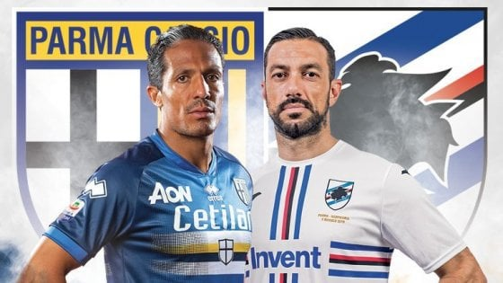 Parma-Sampdoria da Libro Cuore, squadre in campo a maglie invertite