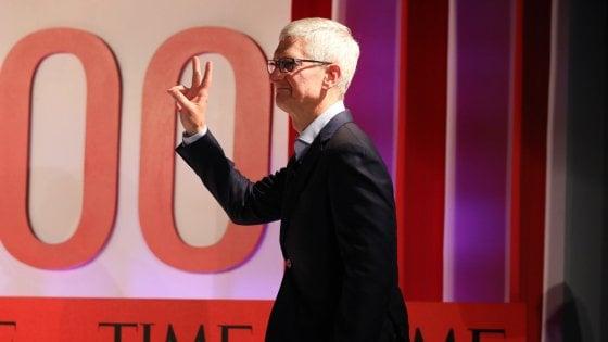 Il ceo di Apple, Tim Cook