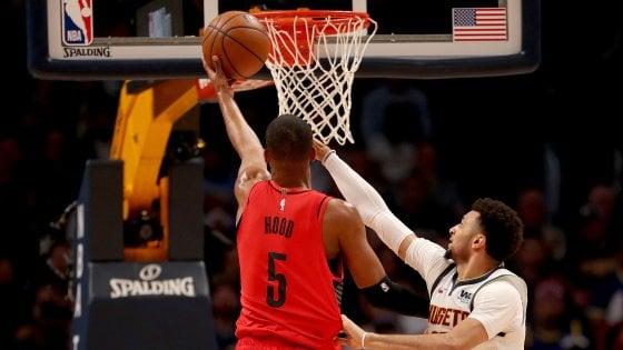 Basket, playoff Nba: Portland sbanca Denver, è 1-1 nella serie
