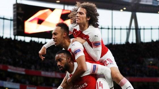 Europa League: l'Arsenal ribalta il Valencia, pari in rimonta del Chelsea a Francoforte