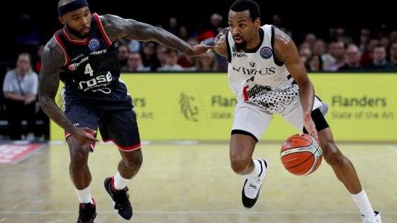 Basket, Champions: Virtus Bologna in finale, travolto il Bamberg
