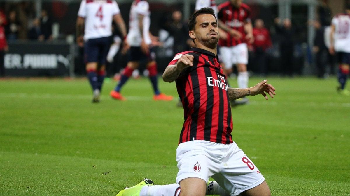Milan-Bologna 2-1, Suso e Borini tengono in vita le speranze Champions rossonere