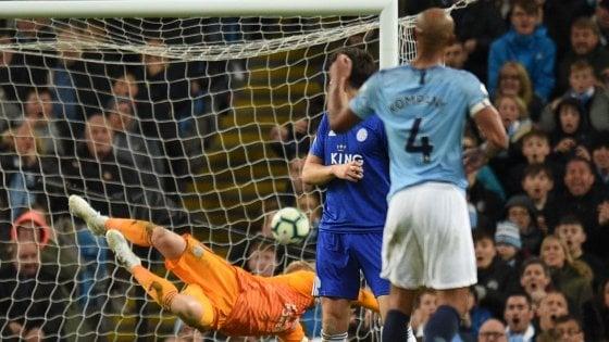 Inghilterra, Manchester City a un passo dal titolo: Kompany stende il Leicester
