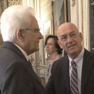 Antonello Soro (a destra) con Mattarella