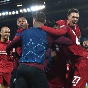 Champions: Liverpool-Barcellona 4-0, rimonta storica dei Reds ed è finale