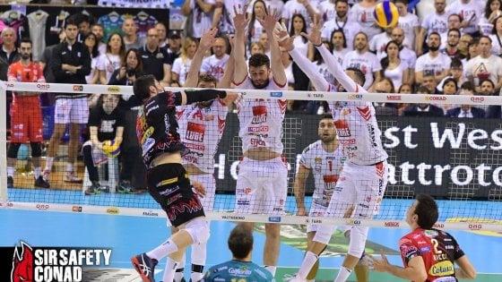 Volley, finale scudetto: Perugia domina Civitanova e si porta sul 2-1