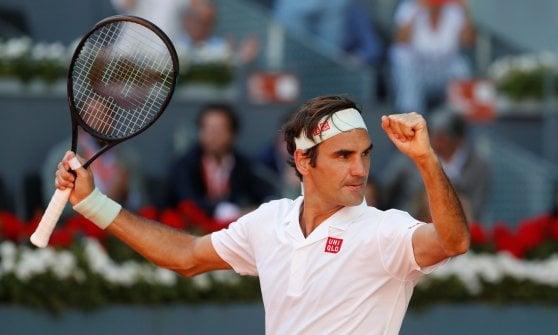 Tennis, Madrid: Fognini fuori agli ottavi. Avanti Djokovic, Nadal e Federer