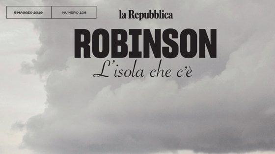 Robinson passa al sabato (insieme a D), cresce e resterà in edicola tutta la settimana