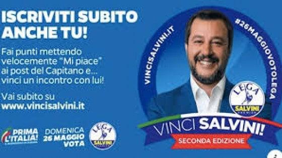 """Europee, la Lega punta sul gioco social """"Vinci Salvini"""": utenti a rischio privacy"""