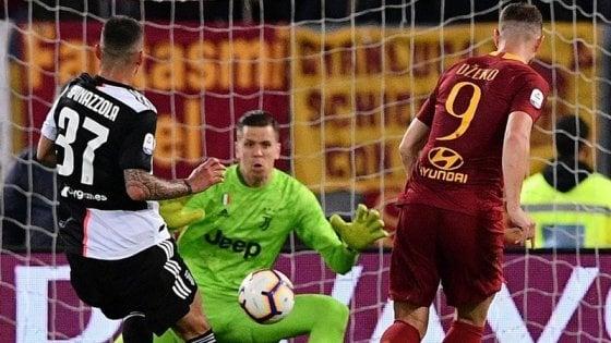 Roma-Juventus 2-0: Florenzi-Dzeko, i giallorossi non mollano la Champions