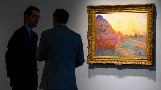 New York, asta record per i 'Covoni' di Claude Monet: battuto a 110 milioni di dollari