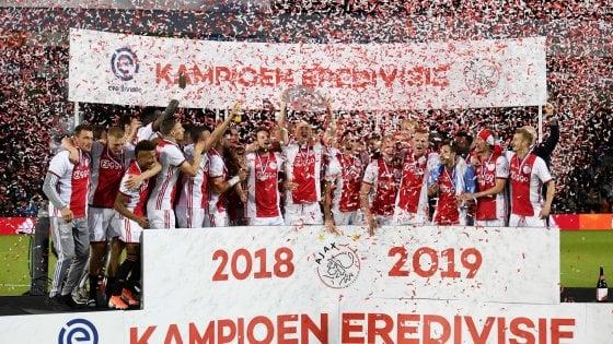 Olanda, l'Ajax si consola: trionfo in campionato, è il 34° titolo