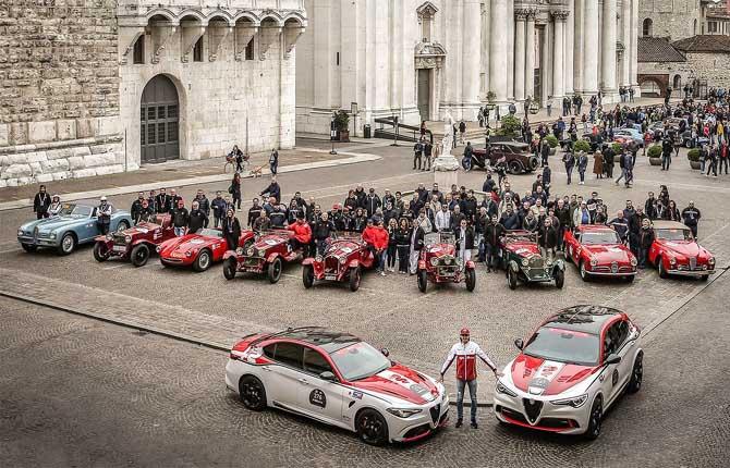 Alfa Romeo show alla 1000 Miglia