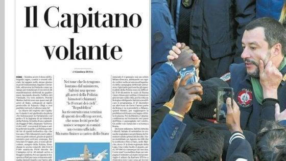"""Fonti M5S: Salvini spieghi uso voli Stato per comizi. Ma lui replica: """"Uno dei ministri dell'interno costati meno"""""""