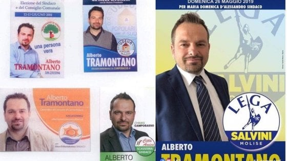 Comunali a Campobasso, il candidato trasformista: cinque partiti diversi in quindici anni