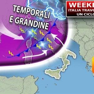 Meteo, weekend di grandine e temporali dal Nord al Centro. Maltempo fino a mercoledì 22