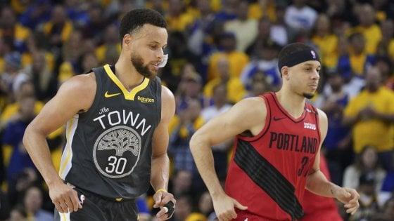 Basket Nba, finale Ovest: rimonta Golden State, 2-0 su Portland