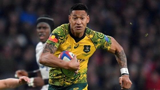 Rugby, post omofobi: Australia licenzia Folau