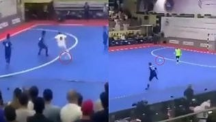 L'avversario fa il fenomeno, Totti lo rimette a posto con un tocco