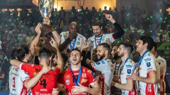 Volley, Champions: Civitanova sul trono, Kazan ko. Donne: trionfo Novara, Conegliano battuto nel derby italiano