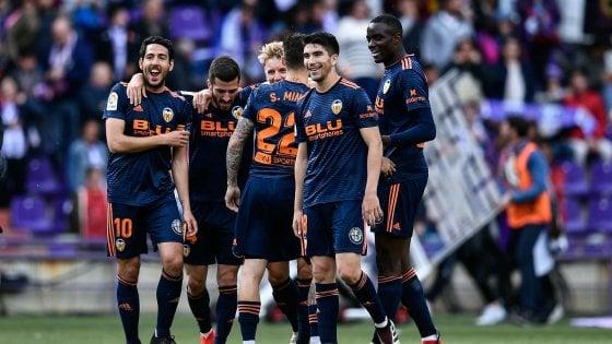 Spagna: Valencia agguanta la Champions, beffa Getafe. Retrocede il Girona