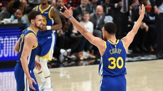 Basket Nba, finale Ovest: Golden State sbanca Portland, ad un successo dalle Finals