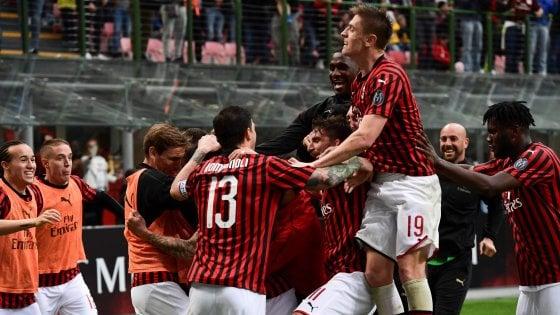 Milan-Frosinone 2-0: Donnarumma salva, Piatek e Suso segnano, i rossoneri sempre aggrappati alla Champions