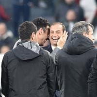 Juventus, anche Buffon allo Stadium per il saluto ad Allegri e Barzagli