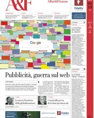 Rep: Pubblicità sul web, sfida tra big: le mani su affari da 300 miliardi