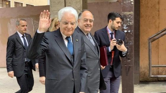 """Mattarella: """"Obiettivo della Repubblica è sanare le fratture nella società"""""""