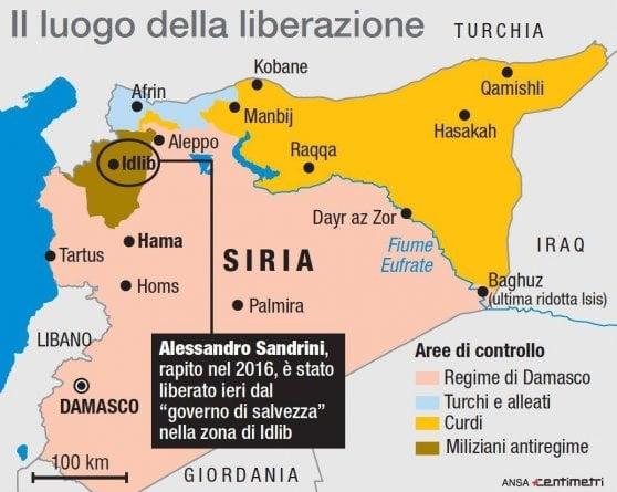 """Siria, liberato a Idlib l'italiano Alessandro Sandrini: """"Mi sono perso e qualcuno mi ha drogato"""""""