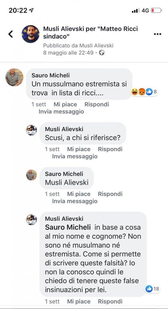 Amministrative, insulti razzisti sui social per un rom marchigiano candidato a Pesaro