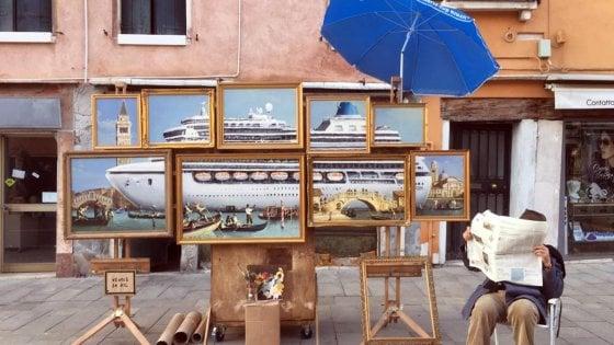 Venezia: è polemica per Banksy cacciato dai vigili