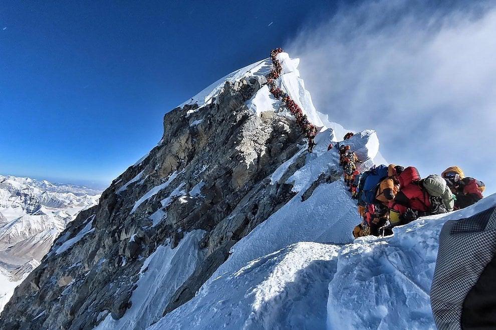 C'è folla sull'Everest