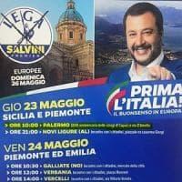 """Cerimonia per Capaci tra eventi elettorali sul manifesto di Salvini. Lui si difende: """"Non..."""