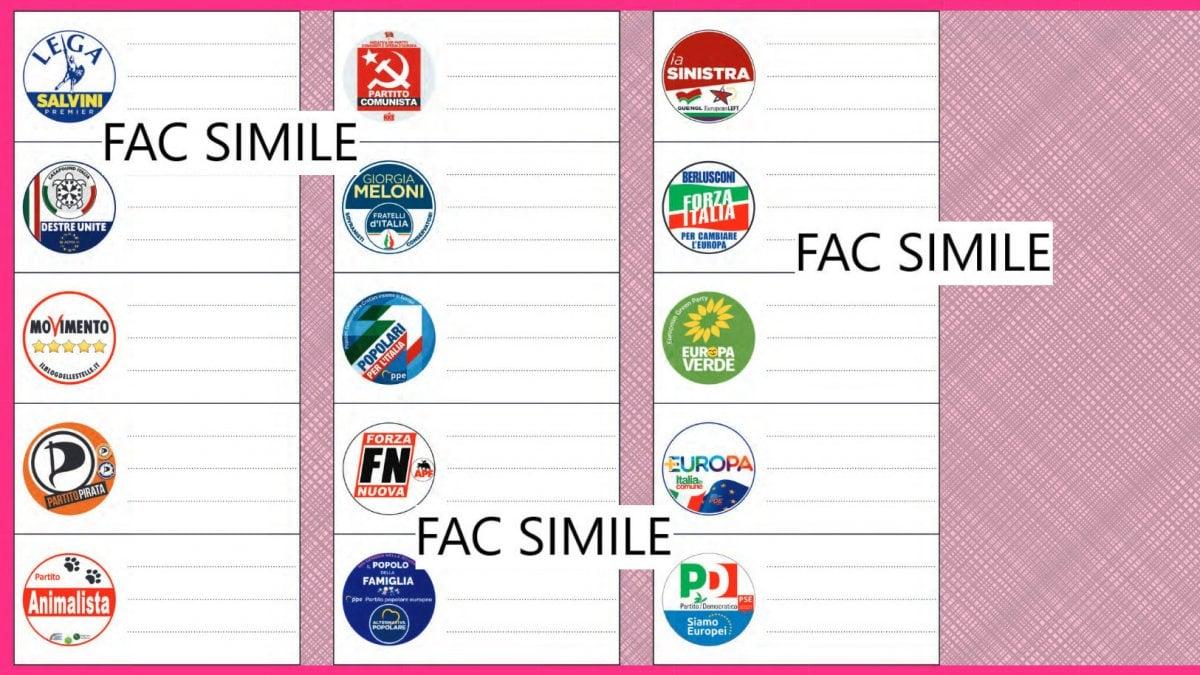 La scheda elettorale delle Europee 2019 e come votare