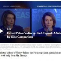 Usa, video manipolati di Nancy Pelosi divulgati sui social con il contributo di Donald...